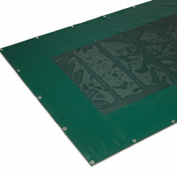 Combination tarp center piece PVC mesh 340 around strip of PVC 620