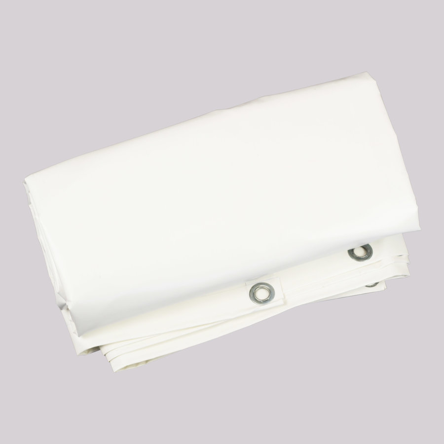 Flame retardant tarp 3x4m PVC 650 gr/m² FR standard M2/DIN4102-B1 - White