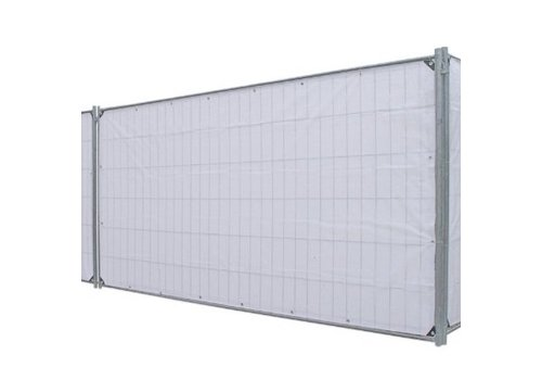 Fence tarp PE 150 Flame Retardant - White