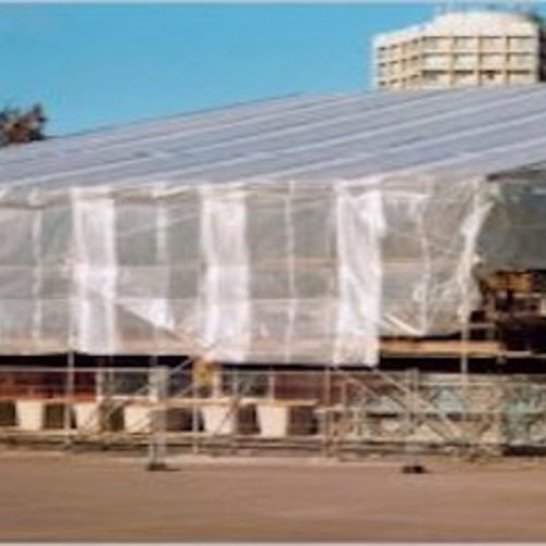 Scaffolding tarp windproof