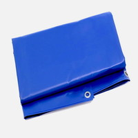 Flame retardant tarp 3x3m PVC 600 gr/m² FR standard M2 - Blue