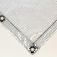 Transparant dekzeil PVC 430 gr/m² met ruitjes