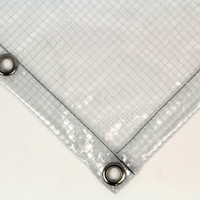 Transparent tarp PVC 430 gr/m² with squares