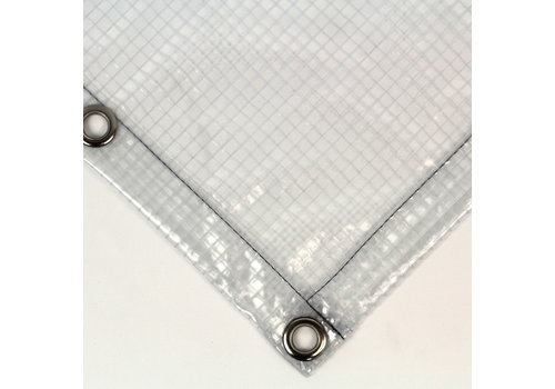 Transparant dekzeil PVC 430 met ruitjes