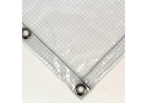 Transparent PVC 430 tarp with squares