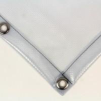 Transparant dekzeil PVC 550 gr/m² met ruitjes