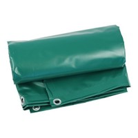 Tarp 4x6 PVC 600 eyelets 100cm - Green