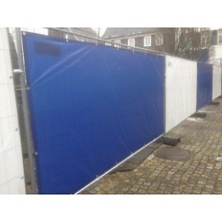 Lichtgewicht bouwhekzeil PE 150 gr/m² - Blauw