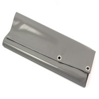 Tarp 6x8 PVC 900 eyelets 50cm - Grey
