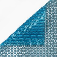 Zwembadzeil 2x4m noppenfolie Blauw/Zilver 400 micron Geobubble