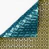 Zwembadzeil 2x4m noppenfolie Blauw/Goud 500 micron Geobubble