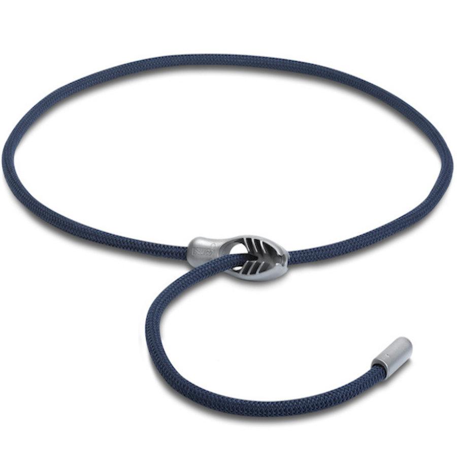 Verstelbare elastiek met snelsluiting 8mm x 100cm - Blauw