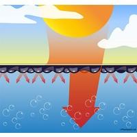 Zwembadzeil 2,50x4,50m noppenfolie EnergyGuard ST 500 micron Geobubble