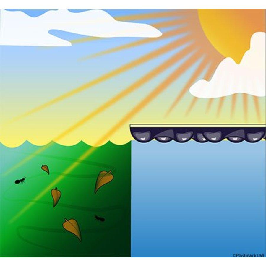 Zwembadzeil 2,50x4,90m noppenfolie EnergyGuard ST 500 micron Geobubble