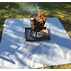 Firepit coaster with eyelets