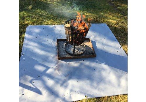 Vuurkorf onderlegger met ringen