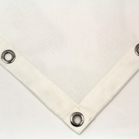 Custom mesh tarp PVC 320 - White