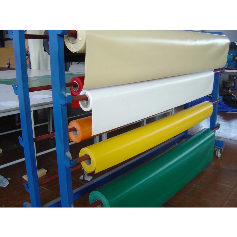 PVC tarp 650 gr/m² Flame retardant of the roll, width 2,50m