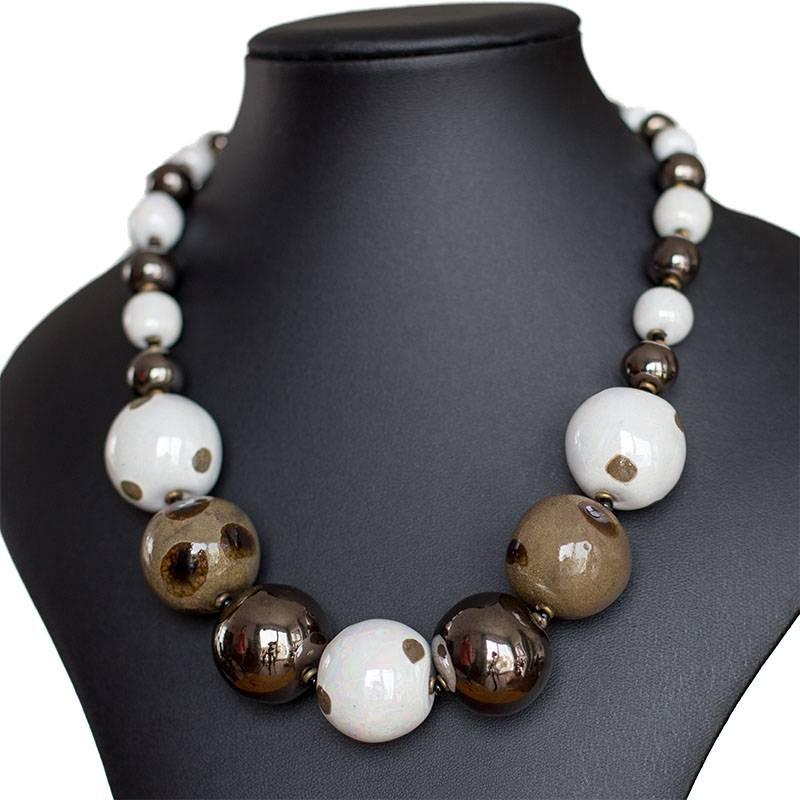 Kazuri Halsketten Edler Schmuck aus Keramik
