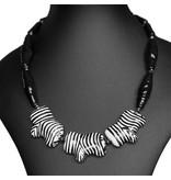 Kazuri Halsketten Zebra Schmuck