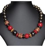 Kazuri Halsketten Halskette Rot