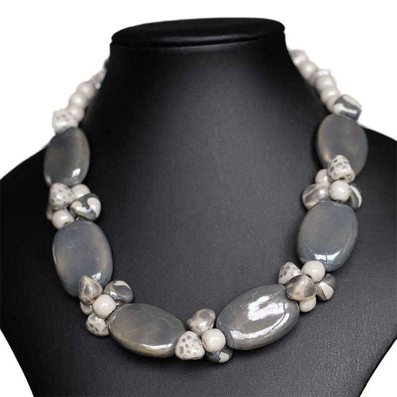 Kazuri Halsketten Elegante Halskette Granit