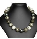 Kazuri Halsketten Grüne Halskette mit Punkten