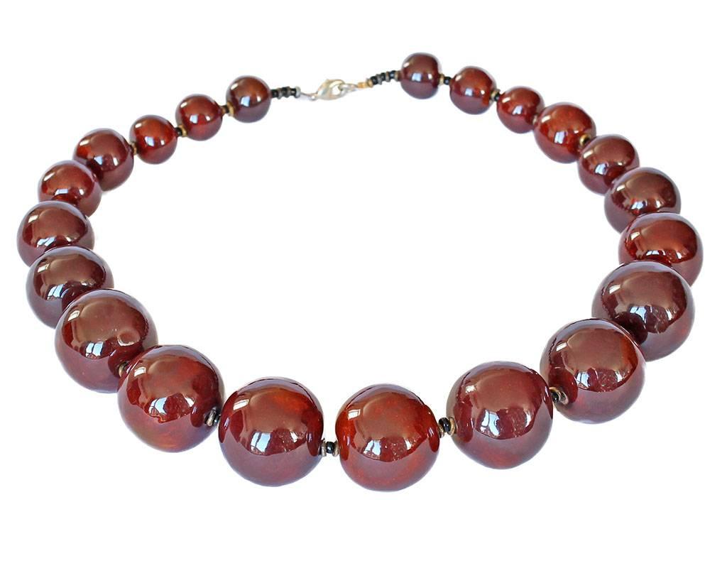 Kazuri Halsketten Afrikanische Keramikkette