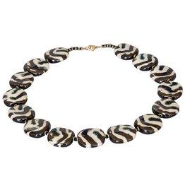 Kazuri Halsketten Pitapat Gold Zebra