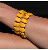 Kazuri Armbänder Gelbes Armband