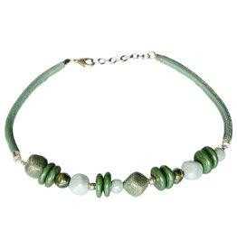 Kazuri Halsketten Frutti Slice Cadeaux Green Earth