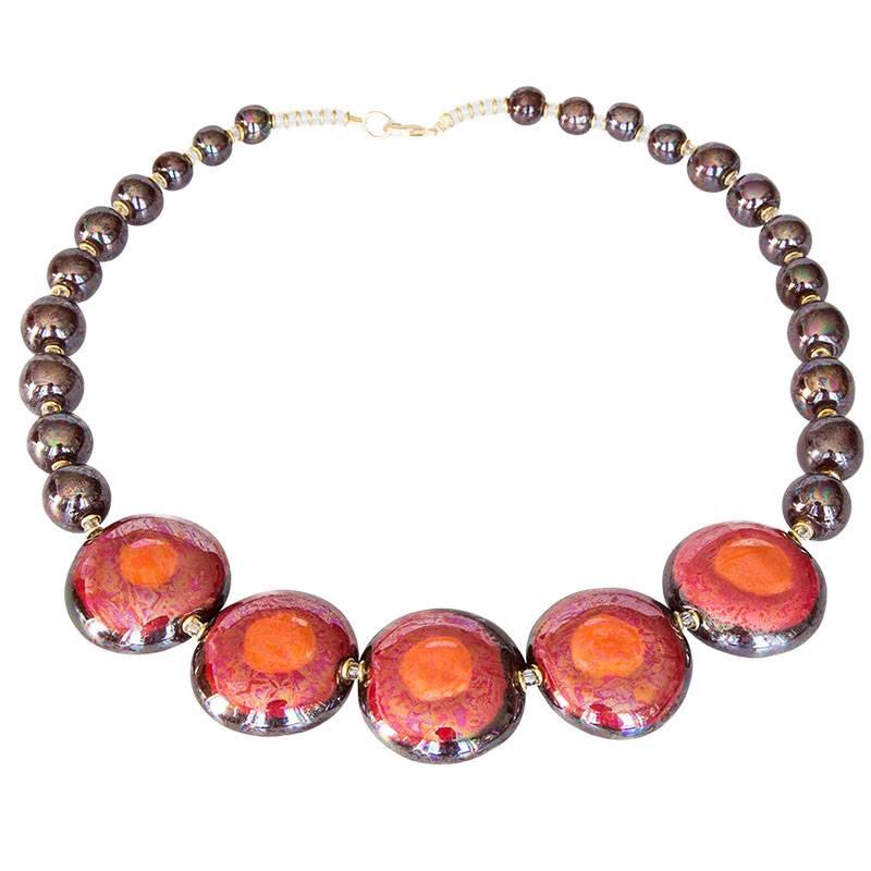 Kazuri Halsketten Afrikanischer Schmuck Traditionell
