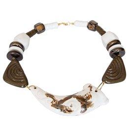 Kazuri Halsketten Horn Oyster