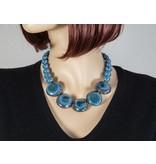 Kazuri Halsketten Afrikanische Halskette Blau