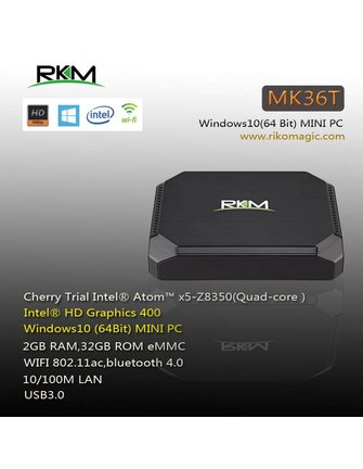 RKM / Rikomagic Rikomagic MK36T Intel Atom Z8350 X5 Windows-TV-Box / Mini-PC