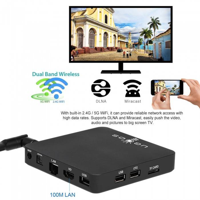 UGOOS AM3 4K HDR OCTACORE 2 0 GHZ ANDROID TV BOX / MINI PC - Android