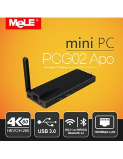 PCG02 APO Intel Celeron N3450 Windows TV Stick / Mini PC