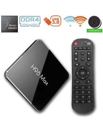 ANDROIDBOX H96 MAX X2 AMLOGIC S905X2 QUADCORE 2.0 GHZ.