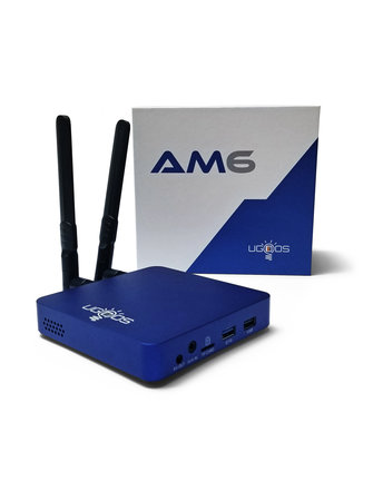 Ugoos AM6 4K HDR HEXACORE ANDROID TV BOX / MINI-PC