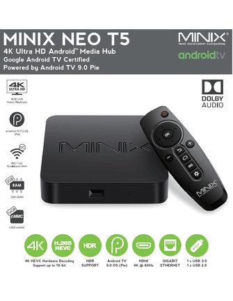 MINIX NEO T5 AMLOGIC S905X2 ANDROID TV BOX | MEDIA HUB