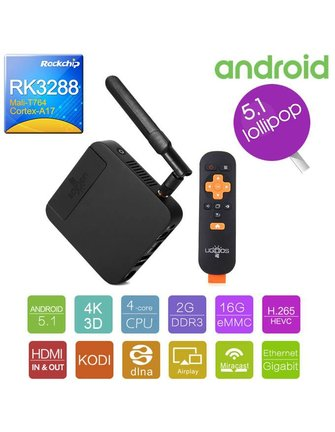 Ugoos UGOOS UT3 PLUS (HDMI IN & OUT) ROCKCHIP RK3288 1.8 GHz QUADCORE ANDROID TV BOX / ANDROIDBOX / MINI PC