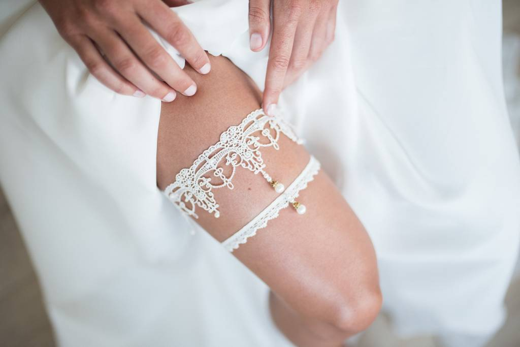 Nadelspitze Strumpfband Pearls Couture