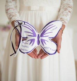 Nadelspitze Ringkissen Schmetterlingsform
