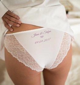 Nadelspitze Hochzeitshöschen Slip