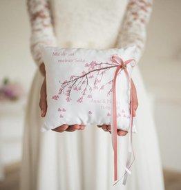 Nadelspitze Ringkissen Kirschblüten