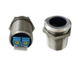 Infrarood contactloze schakelaar rond 24 mm inbouw met twee-kleuren LED ring