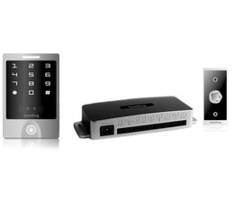 SmartKing™ Breed aanraakscherm,pin en Mifare 13.56 MHz badge, 12_14 Vdc, deurbel en druknop