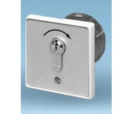 Key switch, flush mounted, single pulse contact