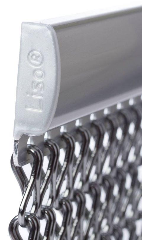 Kettinggordijnen worden geleverd aan de luxe brede aluminium ophangrail