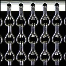 Kriska ® ANGEBOT Kettenvorhang anthrazit / grau - 100 x 260